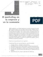 El Marketing en La Empresa y en La Economía