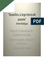 Geopolitica,La Larga Historia Del Presente
