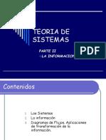 0 Teoria de Sistemas 02 La Informacion