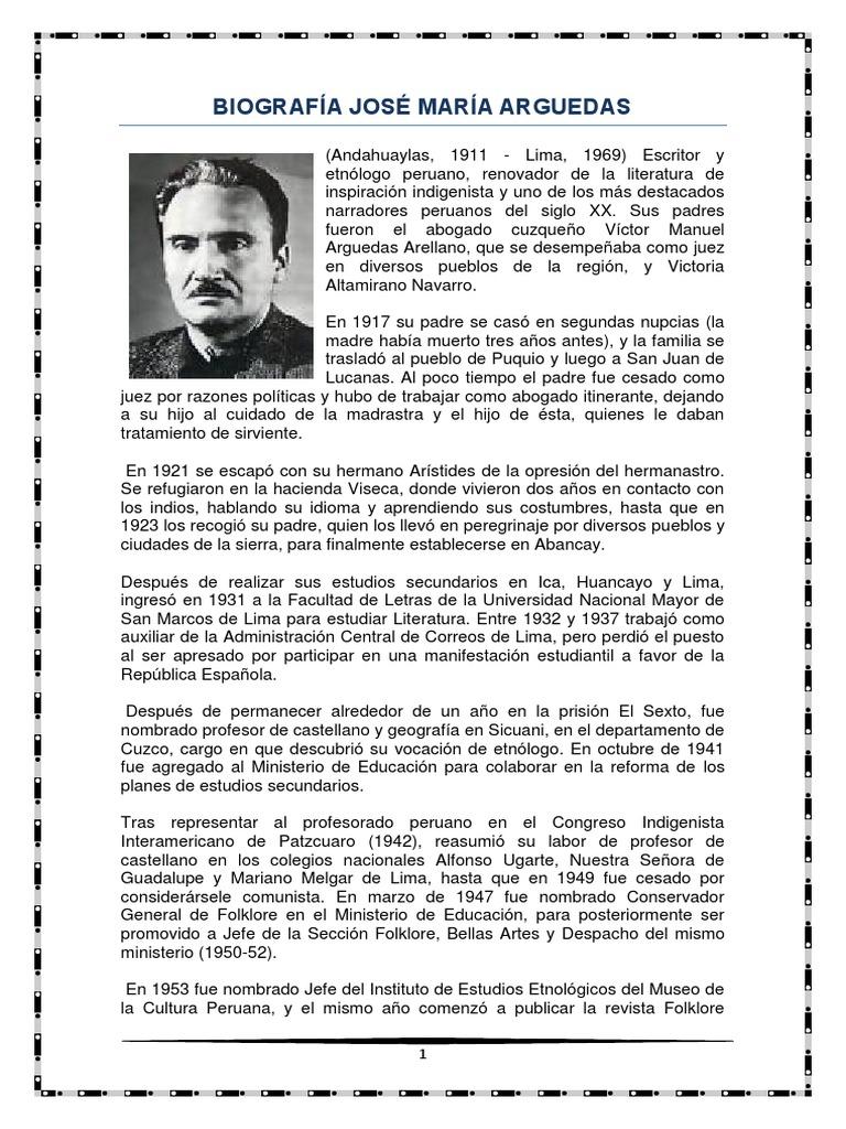 MONOGRAFIA de Jose Maria Arguedas