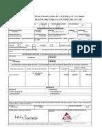 Formulario Registro Nacional de Exportadores