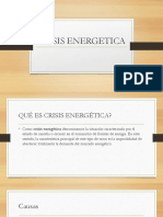 CRISIS ENERGETICA y Energias Alternativas