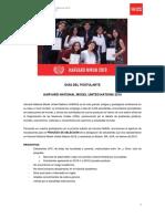 GUIA DEL POSTULANTE HARVARD NMUN 2019 (UPC)