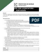 Professor Com Licenciatura - Portuguãšs