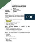 0 802060M Programa Finanzas Internacionales univalle