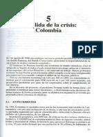 La Salida de La Crisis en Colombia I