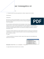 La Función MessageBox en VBA