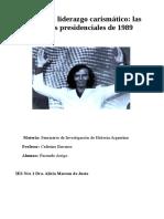 Tesis Menem y El Liderazgo Carismático