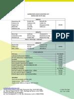 Laboratory Assays Price List Min Tr-pp-xtc2018