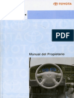 Manual de Usuario Toyota Hilux Arg 01-04