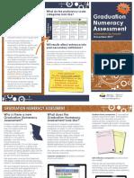 graduation numeracy brochure