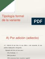 Tipología Formal
