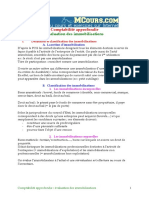Comptabilite Approfondie Evaluation Des Immobilisations