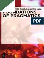 Bublitz & Norrick (Eds.) 2011 Foundations of Pragmatics