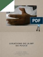 CArmès_2018 - Luxations MP pouce