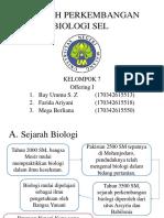 Sejarah Perkembangan Biologi Sel by Kelompok 7