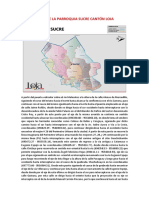 Mapa de La Parroquia Sucre Cantón Loja
