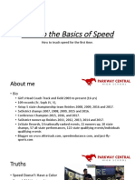 Back to the Basics of Speed