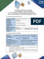 Guía de Actividades y Rúbrica de Evaluación - Fase 2 - Dar Respuesta a Interrogantes Relacionados Con La Operación de Destilación, y Desarrollar Simulación Virtual