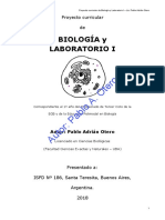 Proyecto Curricular BIOLOGIA I 2018