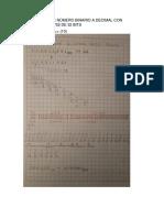 Conversion de Número Binario a Decimal Con Formato Ieee 752 de 32 Bits