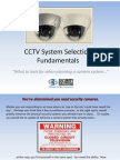 CCTV System Selection Fundamentals