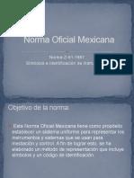 Norma Oficial Mexicana Nom z 61 1987