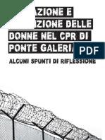 Nemiche e Nemici Delle Frontiere - Migrazione e Detenzione Delle Donne Nel CPR Di Ponte Galeria. Alcuni Spunti Di Riflessione