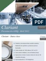 Clariant ANIQ Abril 2012