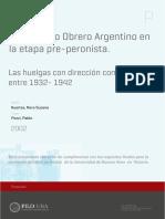 Huertas, Nora Susana - Movimiento Obrero Argentino en La Etapa Pre-peronista.