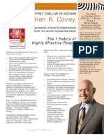 Stephen r Covey Live in Vietnam - The 7 Habits of Highly Effective People Event - Hcmc 21oct 2010