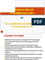 1. Introduction of Pharmacology