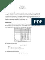 Module 6 - Parking Study