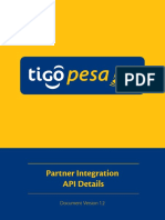 Tigo Partner Integration API Details