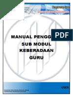 Manual Pengguna Sub Modul Keberadaan Guru
