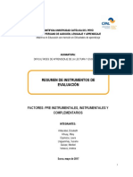Guía Resumen de Pruebas de Evaluación