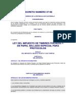 Ley Del Impuesto de Timbres Fiscales y Papel Sellado Especia