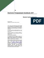 2017 Arts Schools Postgraduate Handbook