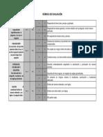 Rubrica de Evaluacion - EVALUACIÓN FINAL
