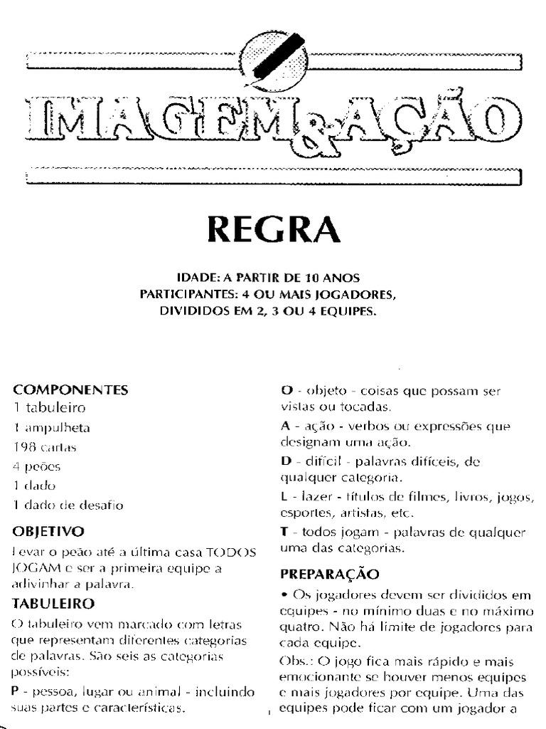 Regras Do Jogo Imagem E Acao Pdf