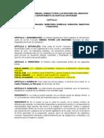 Estatutos Junta de Accion Comunal Los Rincon