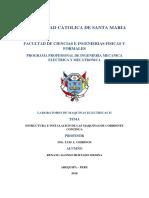Informe 2 Maquinas Electricas 2 Estructura e Instalacion de Las Maquinas de Corriente Continua