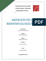Lab Fisica III Medicion de La Resistencia Electrica