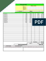 Planilla de Excel Para Hoja de Presupuesto