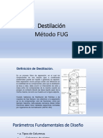 Destilación FUG