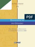 Estatisticas de Genero 2010 Ibge