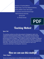 evaluation of teaching method