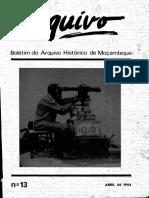 Boletim Do Arquivo Histórico de Moçambique Nº13 - Abril de 1993