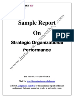 Sample Report on Strategic Organizational Performance by Expert Writers