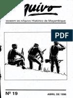 Boletim Do Arquivo Histórico de Moçambique Nº19 - Abril de 1996